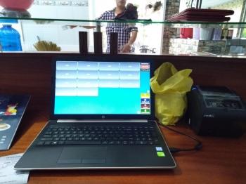 Máy tính tiền quán cafe giá rẻ chỉ 2 thiết bị