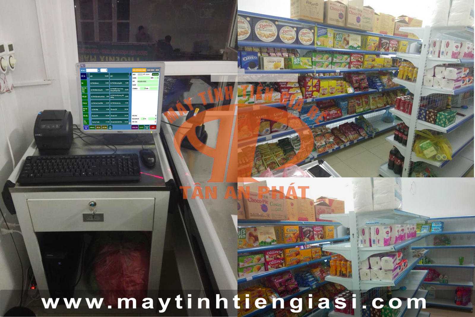 Máy tính tiền cho cửa hàng sữa giá rẻ
