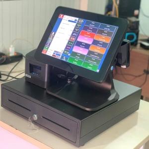 Máy tính tiền cảm ứng 2 màn hình cho quán cafe