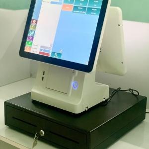 Máy tính tiền cảm ứng tích hợp in bill